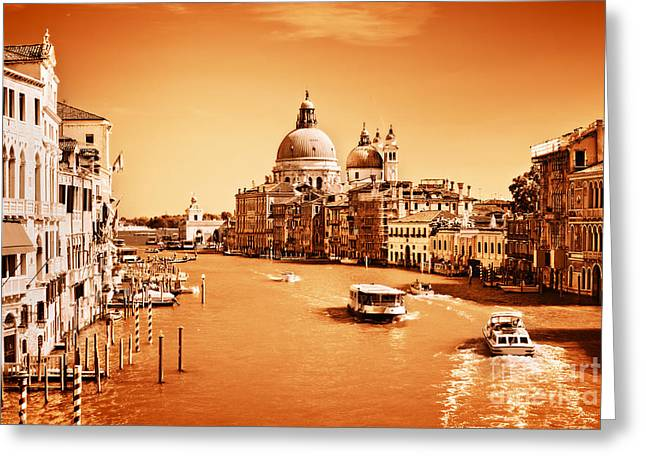 Accademia Greeting Cards - Venice Italy Grand Canal Greeting Card by Michal Bednarek