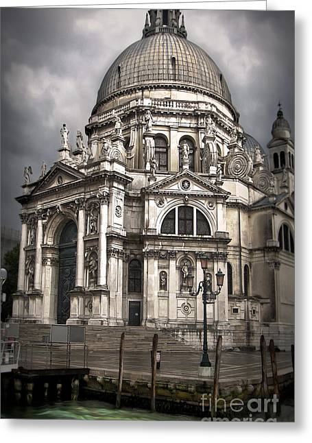 Venice Italy - Santa Maria Della Salute Greeting Card by Gregory Dyer