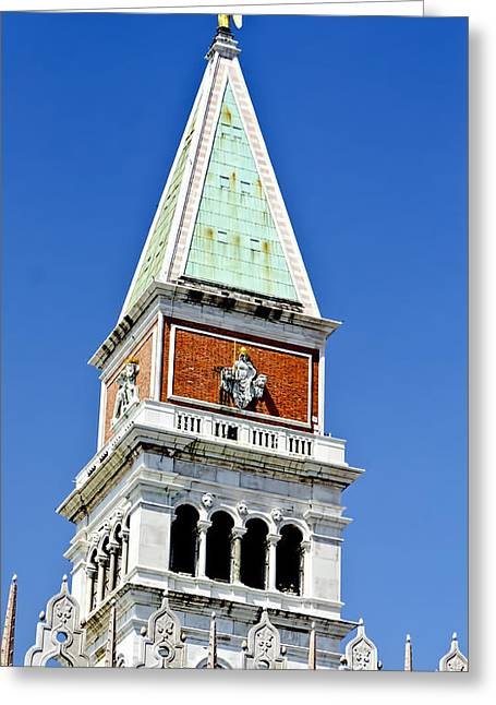 The Piazza Greeting Cards - Venice Italy - St Marks Square Tower Greeting Card by Jon Berghoff