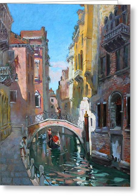 Italy Canal Greeting Cards - Venice italy Greeting Card by Ylli Haruni