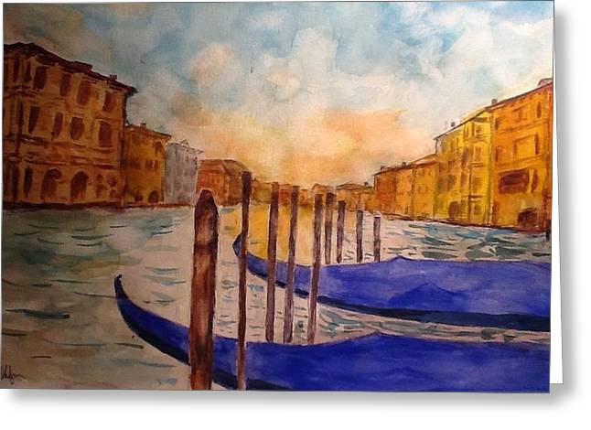 Seacape Greeting Cards - Venice Greeting Card by Jerry Shafer