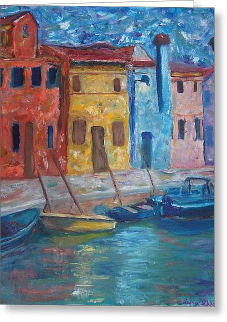 Portofino Greeting Card by Kristine Bogdanovich