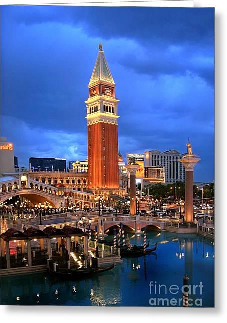 Kate Mckenna Greeting Cards - Venice Las Vegas Greeting Card by Kate McKenna