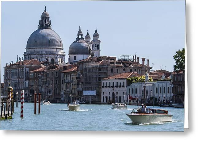 Famous Bridge Greeting Cards - Venice life Greeting Card by Jonas Leonas