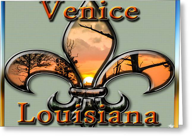 Flur Greeting Cards - Venice Louisiana Greeting Card by Victoria Evans