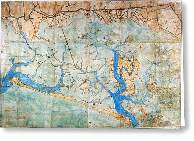 Cristoforo Greeting Cards - Venice: Map, 1546 Greeting Card by Granger