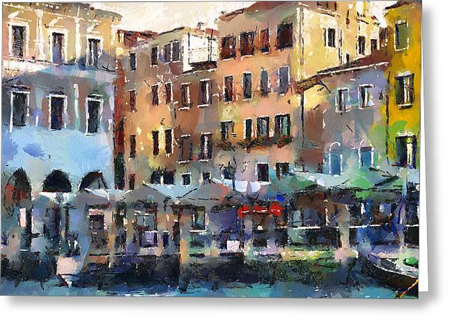Venice Tour Greeting Cards - Venice Market Greeting Card by Yury Malkov