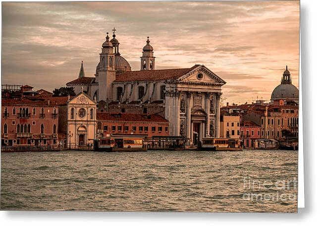 Italian Night Life Greeting Cards - Venice Greeting Card by Mauro Zambelli