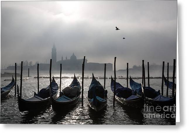 Nebbia Greeting Cards - Venice mist    ery Greeting Card by Matteo Colombo