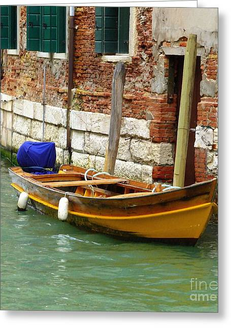 Venice Greeting Cards - Venice Mooring Greeting Card by Bishopston Fine Art