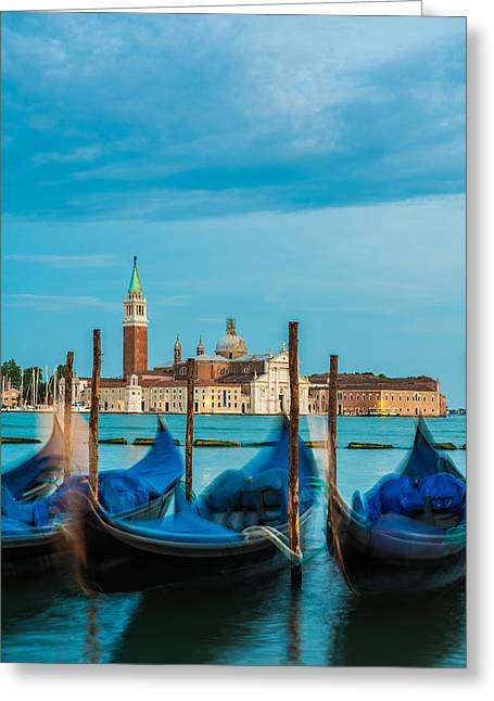 Gloaming Greeting Cards - Venice Nightfall Greeting Card by Martin Wasilewski
