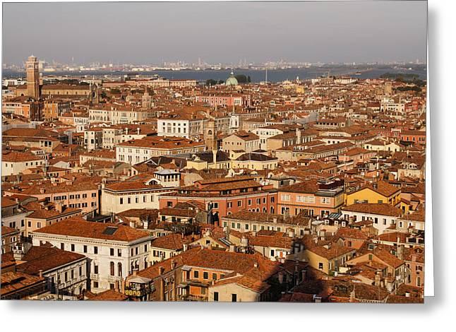 Far Above Greeting Cards - Venice - No Canals Greeting Card by Georgia Mizuleva
