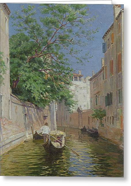 Venice Greeting Card by Remy Cogghe
