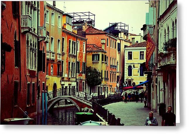 Venice Pyrography Greeting Cards - Venice Greeting Card by Olga Komlev