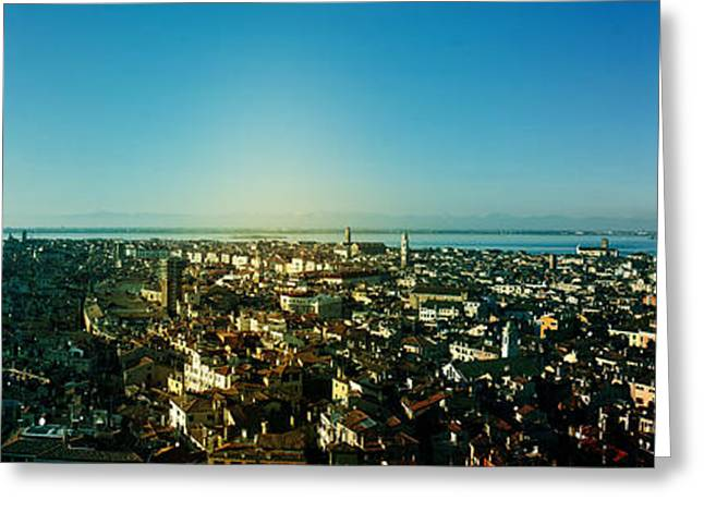 Saint Marc Greeting Cards - Venice Panoramic View Greeting Card by Cedric Darrigrand