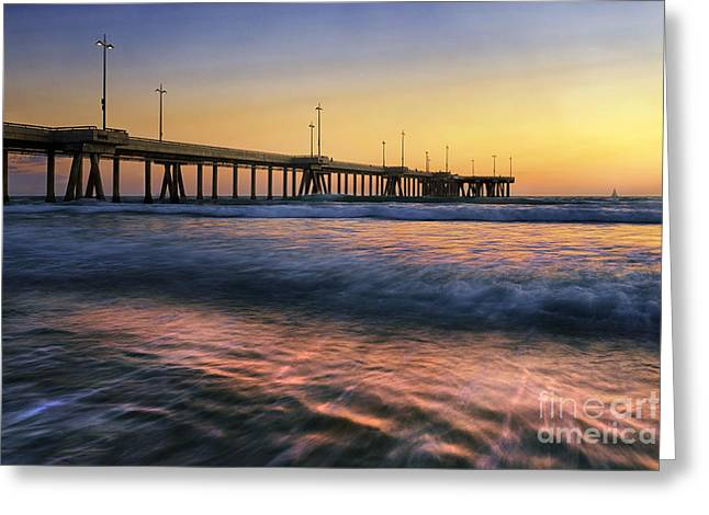 Ddmitr Greeting Cards - Venice Pier Greeting Card by Dmitry Chernomazov