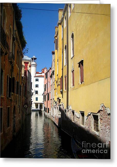Frederick Luff Greeting Cards - Venice Primary Colors Greeting Card by Europe  Travel Gallery