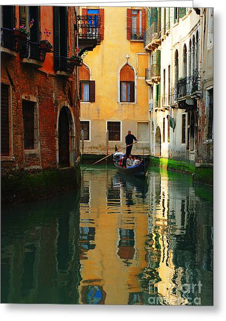 Venice Reflections Greeting Card by Bob Christopher