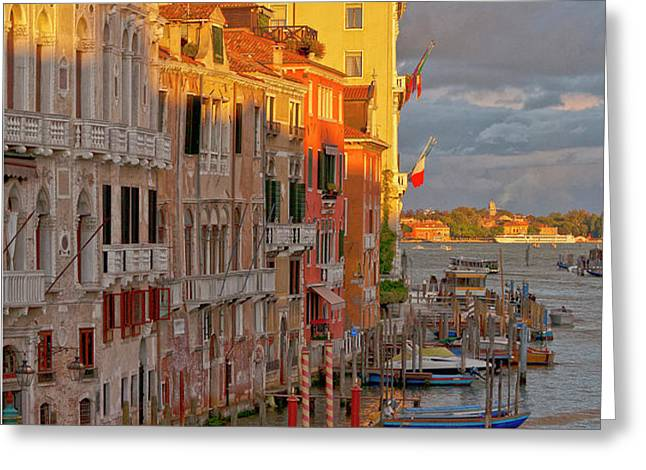 Venice romantic evening Greeting Card by Heiko Koehrer-Wagner