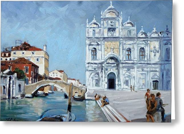 Canale Dei Mendicanti Greeting Cards - Venice - Scuola di San Marco Greeting Card by Irek Szelag