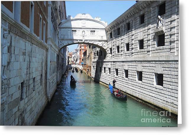 Venice Series 3 Greeting Card by Ramona Matei