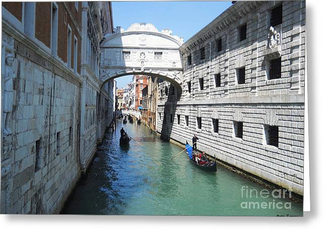 Bella Vita Greeting Cards - Venice Series 3 Greeting Card by Ramona Matei