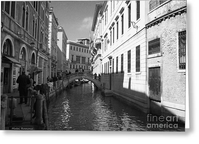 Venice Series 4 Greeting Card by Ramona Matei