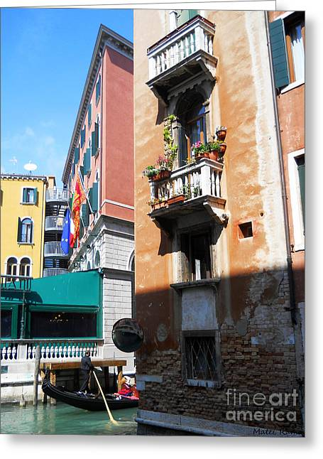 Venice Series 6 Greeting Card by Ramona Matei