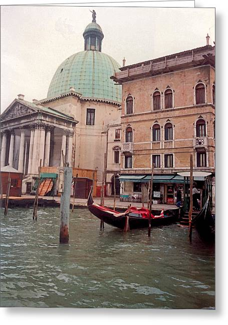 Historic Bridge Photographs Digital Greeting Cards - Venice Series - A Trip to Remember in Watercolor V Greeting Card by Suzanne Gaff