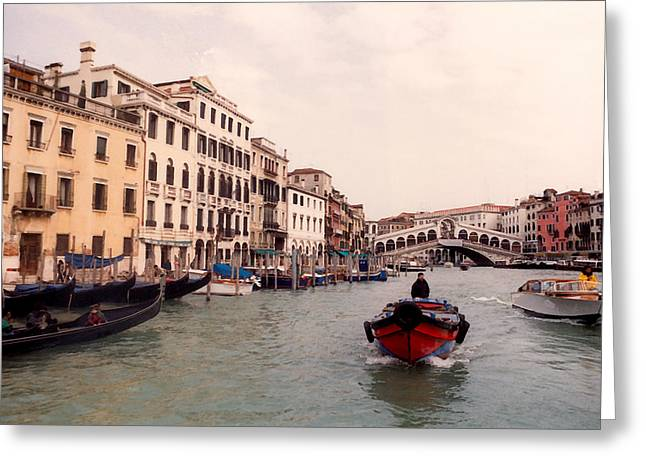 Historic Bridge Photographs Digital Greeting Cards - Venice Series - A Trip to Remember IV Greeting Card by Suzanne Gaff