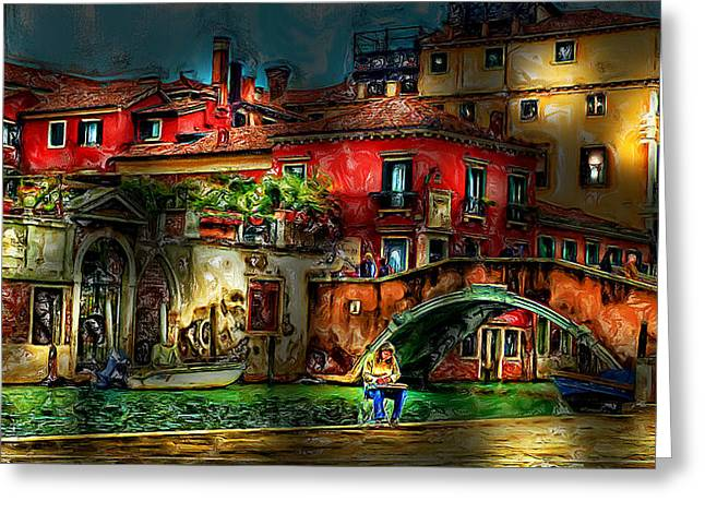 Window Of Life Greeting Cards - Venice Slice of Life Greeting Card by Cary Shapiro