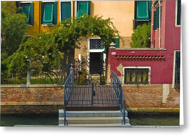 Venice - Italy Greeting Cards - Venice Steps Greeting Card by Douglas Girard