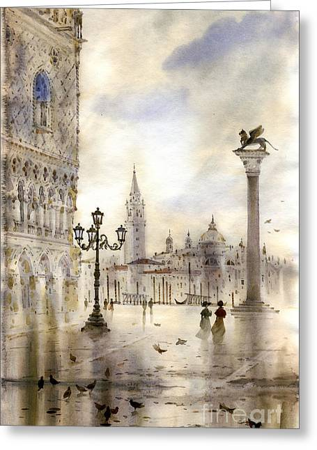 Venice Greeting Cards - Venice Greeting Card by Svetlana and Sabir Gadghievs