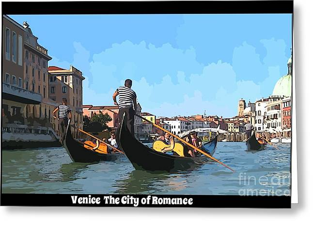 At Work Greeting Cards - Venice The City of Romance Greeting Card by John Malone Halifax Graphic Designs