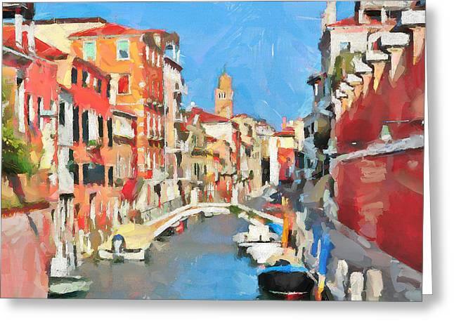 Gondolier Greeting Cards - Venice Today Greeting Card by Yury Malkov