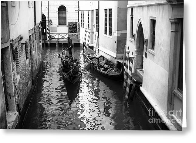 Gondolier Greeting Cards - Venice Touring Greeting Card by John Rizzuto