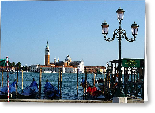Children Digital Art Greeting Cards - Venice View on Basilica di San Giorgio Maggiore Greeting Card by Irina Sztukowski