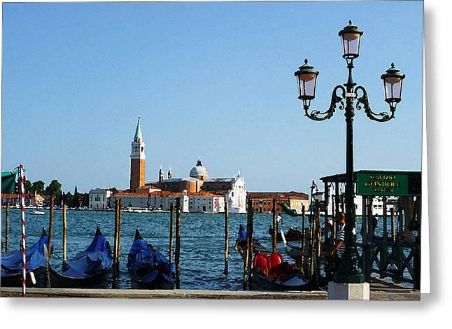 Venice View On Basilica Di San Giorgio Maggiore Greeting Card by Irina Sztukowski