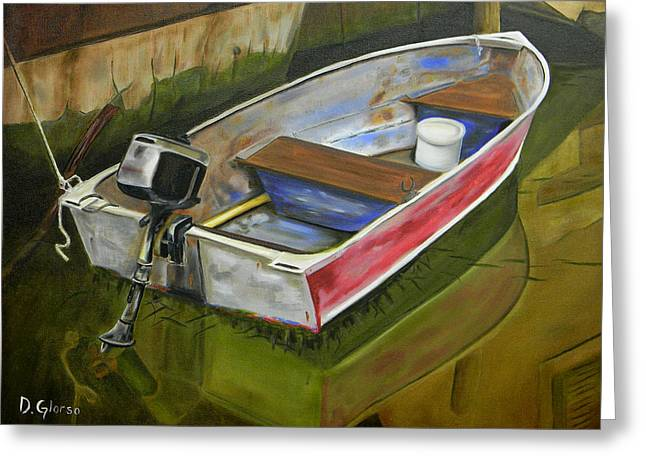 Dean Of Art Greeting Cards - VeniceBoat-1 Greeting Card by Dean Glorso