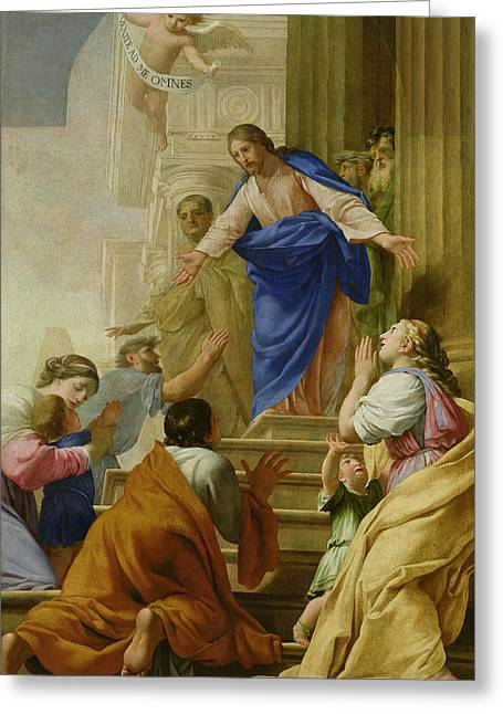 Gospel Of Matthew Greeting Cards - Venite as me Omnes Greeting Card by Eustache Le Sueur