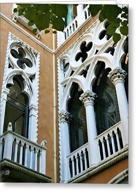 Fenster Greeting Cards - Venitian windows Greeting Card by Emma Motte