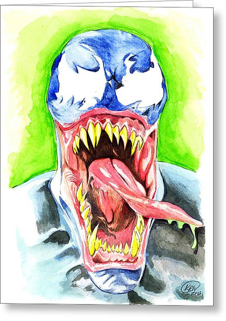 Kyle Willis Greeting Cards - Venom Greeting Card by Kyle Willis