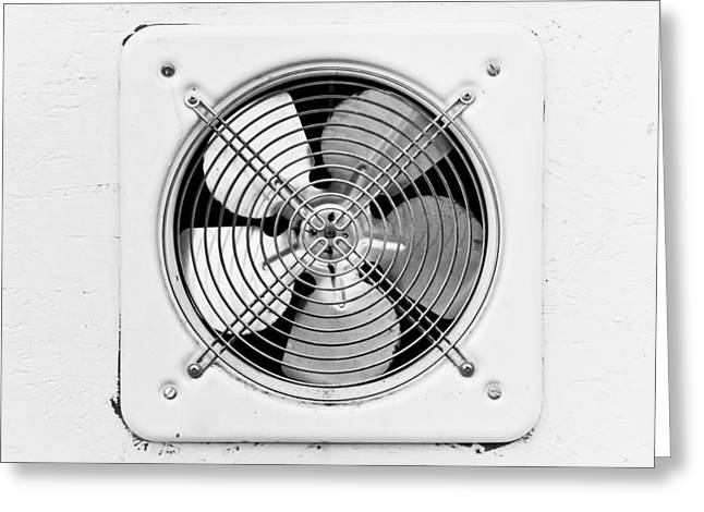 Temperature Greeting Cards - Ventilation fan Greeting Card by Tom Gowanlock