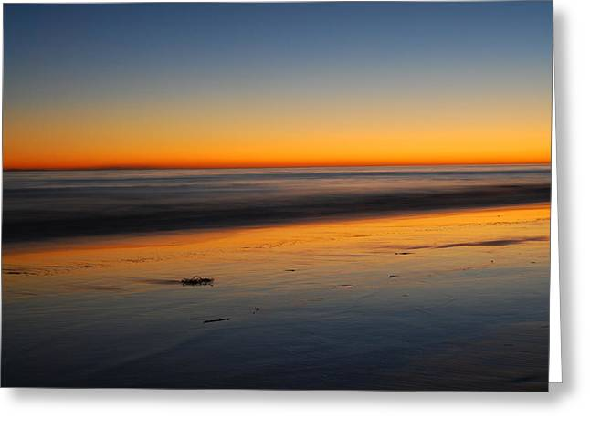 Abstract Seascape Greeting Cards - Ventura Beach Evening Greeting Card by Catherine Lau