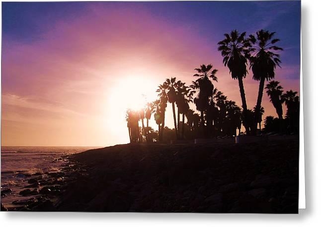 Ventura California Greeting Cards - Ventura Beach Sunset Greeting Card by MaryEllen Frazee