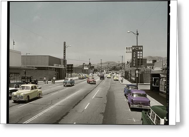 Ventura California Greeting Cards - Ventura CA - Circa 1957 Greeting Card by Walt Dibblee