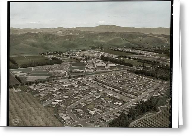 Ventura California Greeting Cards - Ventura College Circa - 1958 Greeting Card by Walt Dibblee