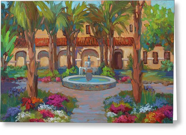 Cruz Greeting Cards - Ventura Mission Greeting Card by Diane McClary