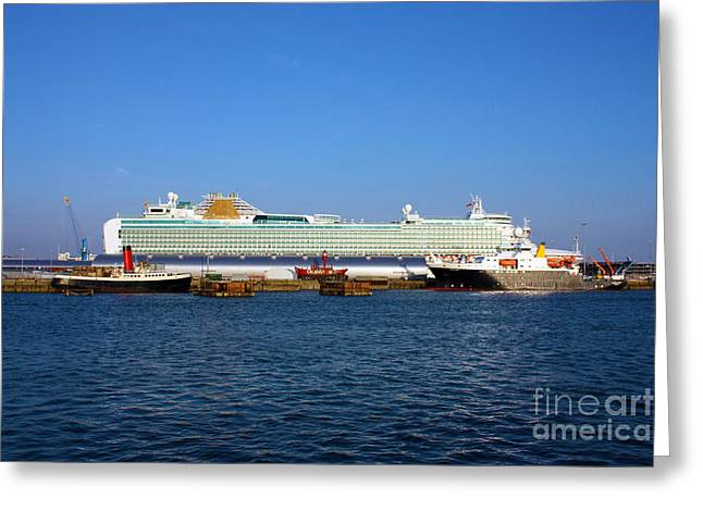 Ventura Sheildhall Calshot Spit And A Tug Greeting Card by Terri Waters