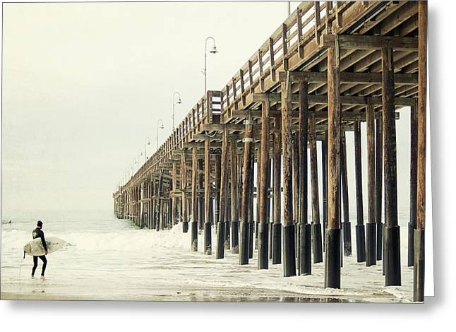 California Ocean Photography Greeting Cards - Ventura Surfer  Greeting Card by Bree Madden